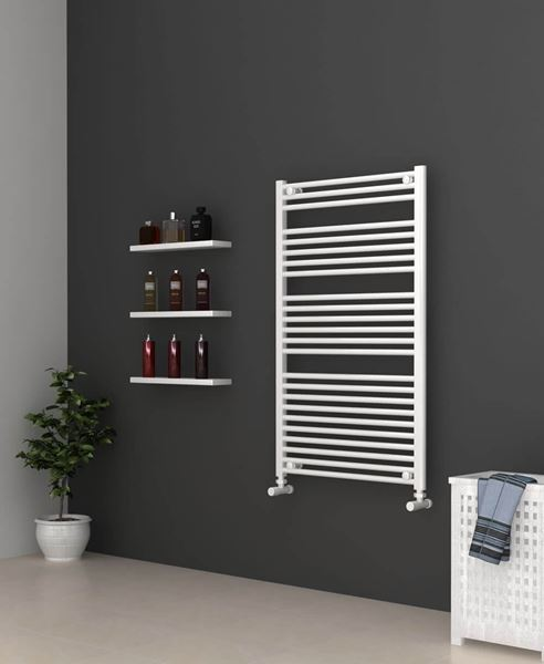 Picture of White Bathroom Towel Rail 700mm Wide 1150mm High