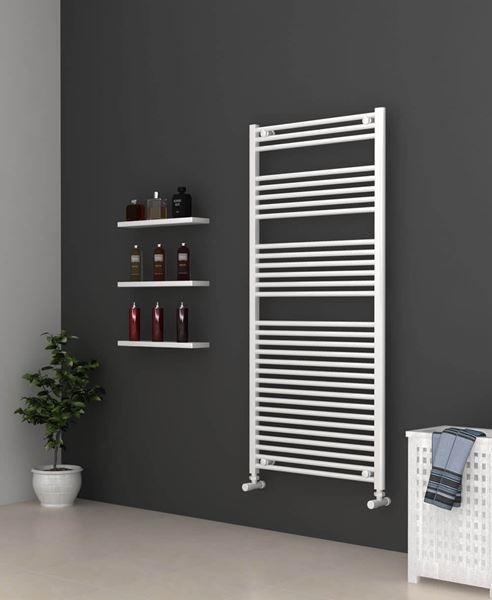 Picture of White Bathroom Towel Rail 700mm Wide 1500mm High