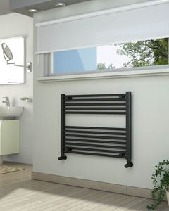Picture of Anthracite Towel Radiator 800mm Wide 600mm High