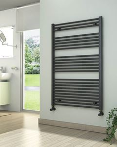 Picture of Anthracite Towel Radiator 800mm Wide 1200mm High