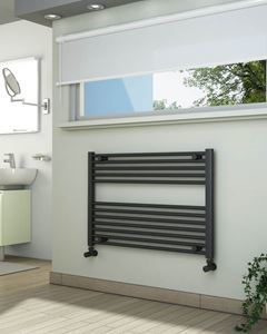 Picture of Anthracite Towel Radiator 900mm Wide 600mm High