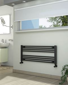 Picture of Anthracite Towel Radiator 1000mm Wide 400mm High