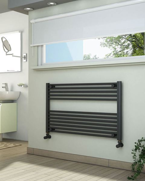 Picture of Anthracite Towel Radiator 1000mm Wide 600mm High