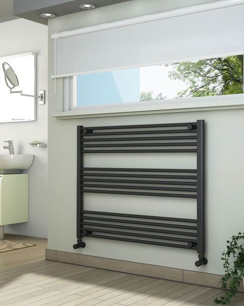 Picture of Anthracite Towel Radiator 1000mm Wide 800mm High
