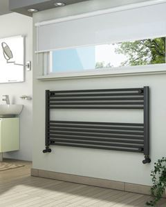 Picture of Anthracite Towel Radiator 1200mm Wide 600mm High