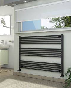 Picture of Anthracite Towel Radiator 1200mm Wide 800mm High