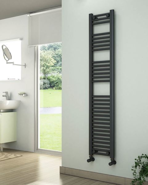 Picture of Anthracite Towel Radiator 300mm Wide 1500mm High