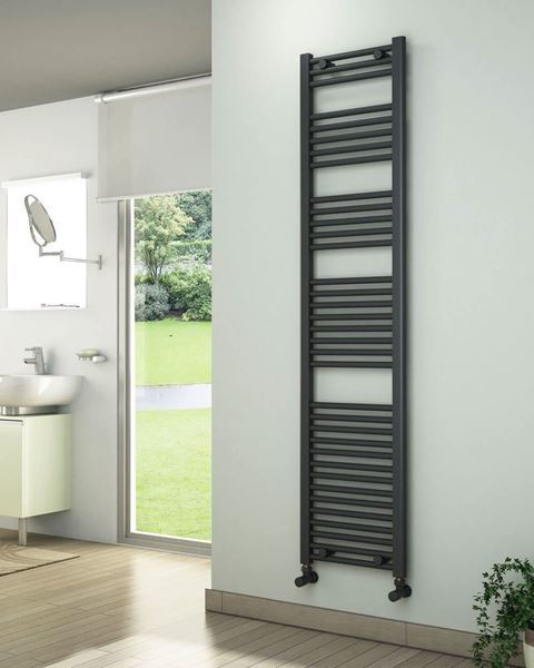 Picture of Anthracite Towel Radiator 400mm Wide 1750mm High