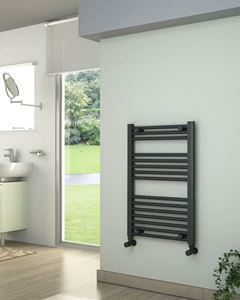 Picture of Anthracite Towel Radiator 500mm Wide 750mm High