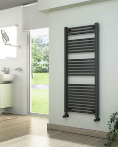 Picture of Anthracite Towel Radiator 500mm Wide 1150mm High