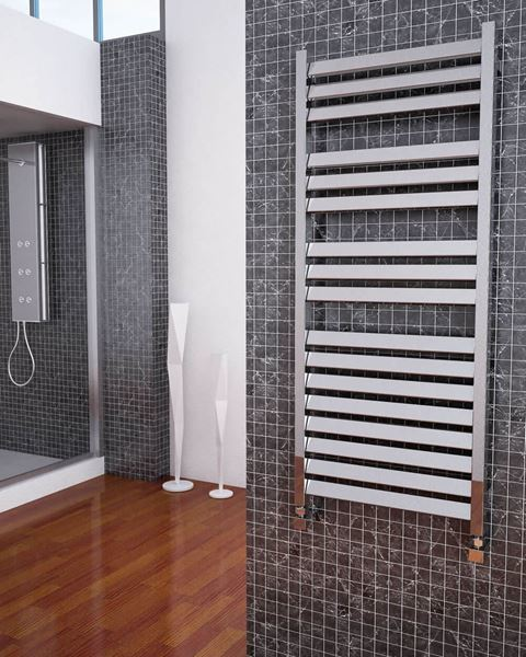 Picture of ARTEX Chrome Designer Towel Radiator - 500mm Wide 1200mm High