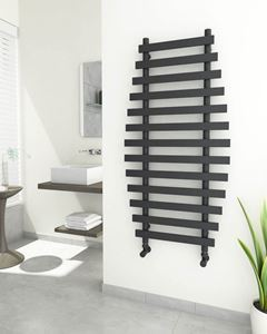 Picture of DIVERI Anthracite Bathroom Towel Radiator - 600mm Wide 1200mm High