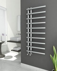 Picture of ELUS Designer Chrome Towel Radiator - 500mm Wide 1200mm High