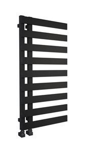 Picture of EMRENO Gloss Black Designer Towel Radiator - 500mm Wide 1232mm High