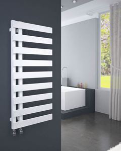 Picture of EMRENO 500mm Wide 1232mm High White Designer Towel Radiator