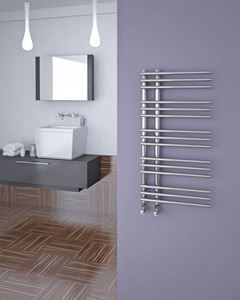 Picture of KETYA Designer Towel Radiator - 500mm Wide 900mm High in Chrome