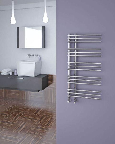 Picture of KETYA Designer Towel Radiator - 500mm Wide 900mm High in Chrome
