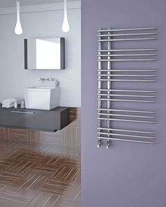 Picture of KETYA Designer Towel Radiator - 600mm Wide 1200mm High in Chrome