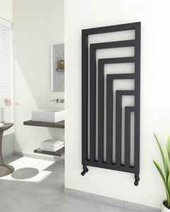 Picture of LEMINA Designer Anthracite Towel Radiator - 520mm Wide 1260mm High