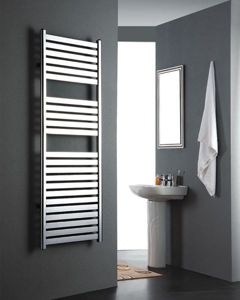 Picture of MEOT Chrome Designer Towel Radiator - 500mm Wide 1200mm High