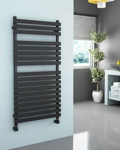 Picture of SONAVA Designer Anthracite Towel Radiator - 600mm Wide 1200mm High
