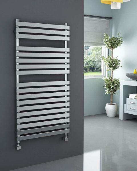 Picture of SONAVA Chrome Designer Towel Radiator - 600mm Wide 1200mm High