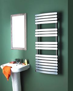 Picture of KOCA Chrome Curved Designer Towel Radiator - 600mm Wide 1000mm High