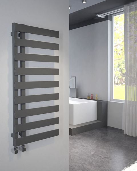 Picture of EMRENO Anthracite Designer Towel Radiator - 500mm Wide 800mm High