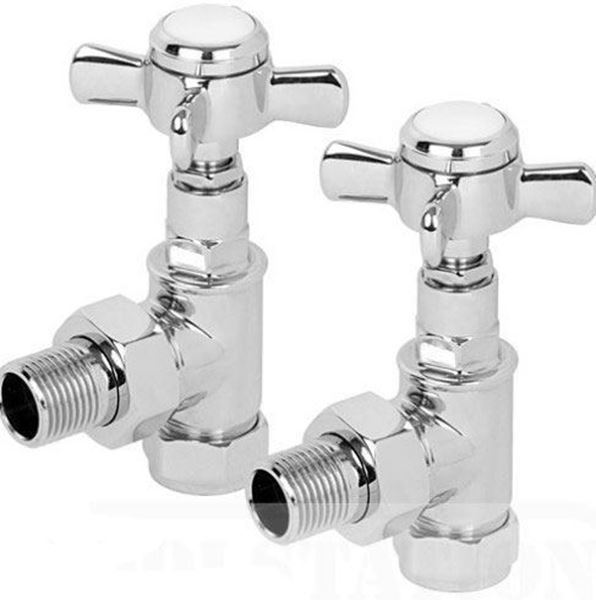 Picture of Traditional ANGLED Radiator Valves - Pair