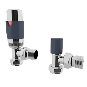 Picture of Thermostatic Anthracite Angled Radiator Valve Set