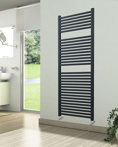 Picture of Anthracite Towel Radiator 500mm Wide 1512mm High