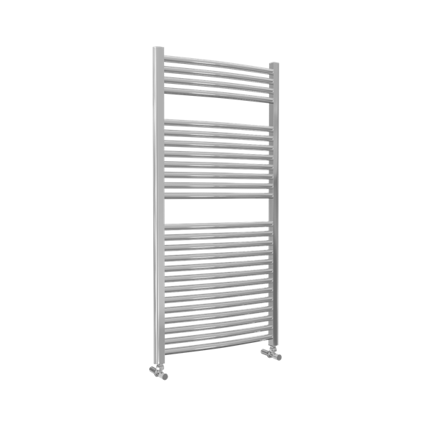Picture of Chrome CURVED Towel Radiator 600mm Wide 1230mm High
