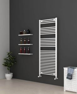 600mm Wide 1600mm High White Flat Towel Radiator