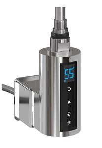 Thermostatic Heating Element with WiFi & 2/4hrs Booster - 600Watt Chrome